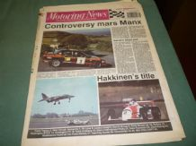 MOTORING NEWS 1990 September 19 Manx Rally, Hakkinen wins F3 Title, CART,BTCC